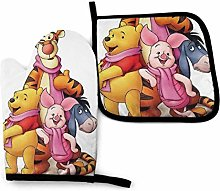 shenguang Winnie The Pooh Oven Mitt and Pot Holder