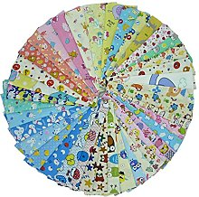 SHENGZE 40pieces 20cm*25cm Cartoon Printed Cotton