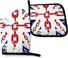 SHENLE British Flag Graphics Chain Non-Slip Oven