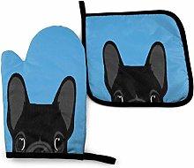 SHENLE Cartoon Keji Head in Blue Non-Slip Oven