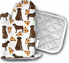 SHENLE Chocolate Labrador Pizza Oven Gloves And