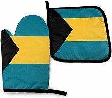SHENLE Flag of the Bahamas Non-Slip Oven Gloves