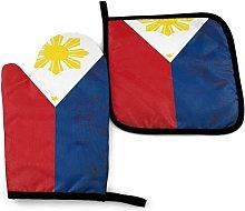 SHENLE Flag of the Philippines Non-Slip Oven