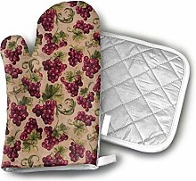 SHENLE Grapes Grapevines Purple Oven Gloves And