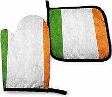 SHENLE Ireland Grunge Flag Non-Slip Oven Gloves