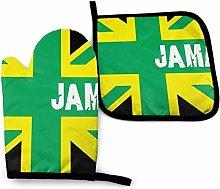 SHENLE Jama Flag Non-Slip Oven Gloves And