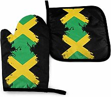 SHENLE Jamaica Flag Printing in Black Non-Slip