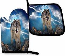 SHENLE Lightning Wolf Raining Day Non-Slip Oven