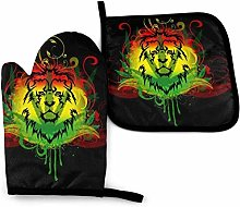 SHENLE Lion Face Rasta Weed Colors Non-Slip Oven