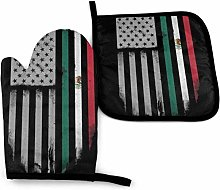 SHENLE Mexican Roots Non-Slip Oven Gloves And