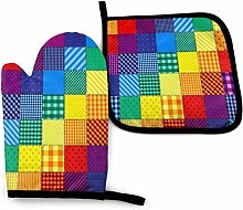 SHENLE Patchwork Pattern of Rainbow Colors.