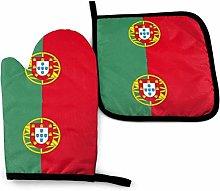 SHENLE Portugal of Flagd Non-Slip Oven Gloves And
