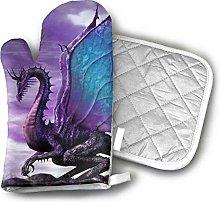 SHENLE Purple Dragon Oven Gloves And Potholder