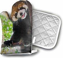 SHENLE Red Panda Oven Gloves And Potholder