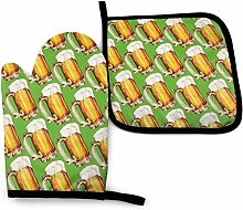SHENLE Repeat Beer Cups Background Pattern