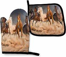SHENLE Running Horse Pattern Dirt Non-Slip Oven