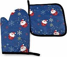 SHENLE Santa Claus Non-Slip Oven Gloves And