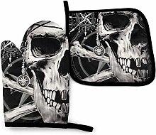 SHENLE Smile Skull in Black Stars Non-Slip Oven