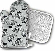 SHENLE Unique Design Gray Matter Brain Oven Gloves