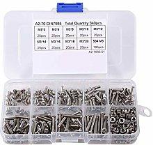 SHENYI Hardware Tool 340pcs/ set M3 Stainless
