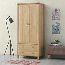 Sherwell 2 Door 2 Drawer Double Wardrobe Oak