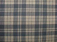 Shetland Tartan Check Cotton Rich Linen Fabric