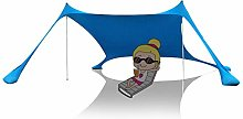SHFAMHS Beach Tent Sun Shade Shelter with 4