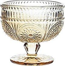 SHHMA Dessert Cups Glass Ice Cream Bowls 10 Ounce