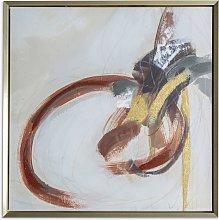 Shibu Abstract - Framed Canvas Print, 74 x 74cm,