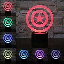 Shield 3D Lamp Night Light LED Bulb Multicolor