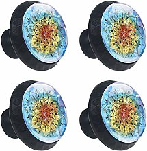Shiiny Colorful Watercolor Mandala Drawer Knob