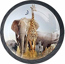 Shiiny Safari Animals Composited Drawer Knob Pull