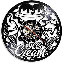 SHILLPS Clock Wall Vinyl Record Ice Cream Shop
