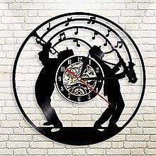 SHILLPS Jazz Music Art Vinyl Wall Clock With Led