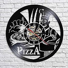 SHILLPS Pizza Time Wall Watch Pizzeria Gastronome