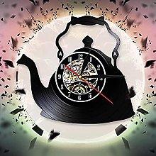SHILLPS Teapot Art Decorative Wall Clock Creative