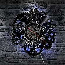 SHILLPS Vinyl Record Wall Clock Modern Design 3D