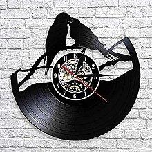 SHILLPS Wall clock parrot vinyl record clock