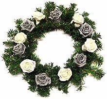 Shimmer-hj Artificial Evergreen Christmas Wreath