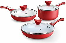 SHINEURI 6 Pieces Nonstick Pots and Pans Set -
