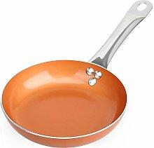 SHINEURI 8 inch Copper Fry Pan, Nonstick Omelet