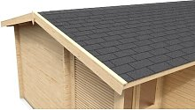 Shingle Roofing Kit Sol 72 Outdoor Colour: Black