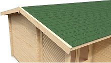Shingle Roofing Kit Sol 72 Outdoor Colour: Green