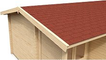 Shingle Roofing Kit Sol 72 Outdoor Colour: Red