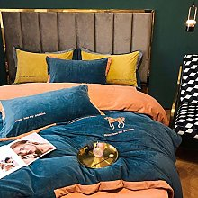 Shinon 4 piece twin bedding set-Milk velvet baby