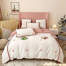 Shinon bedding duvet covers king-Milk velvet baby
