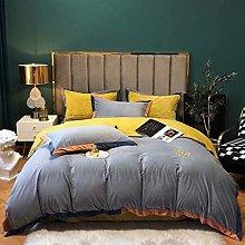 Shinon bedding duvet covers queen-Milk velvet baby