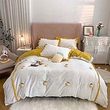 Shinon teddy fleece bedding single blue-Milk