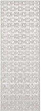 Shiny Design Viscose Carpet Bouton Grey Runner 80