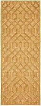 Shiny Design Viscose Carpet Caine Gold Runner 80 x